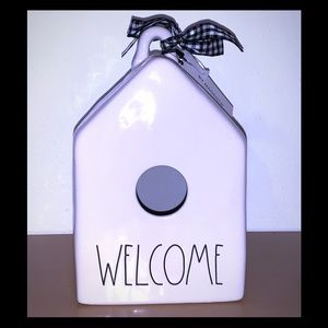 Rae Dunn Welcome Birdhouse Brand new with tags